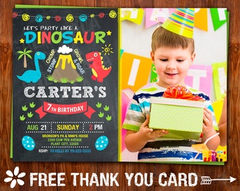 Dinosaur Invitation Dinosaur Birthday Invitation Dinosaur