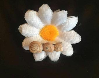 Snail shell brooch
