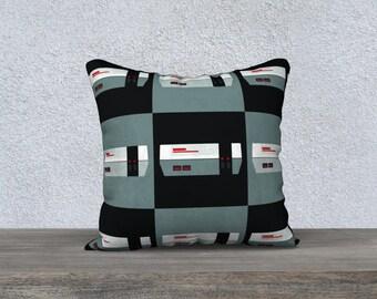 Pillow cover - Nintendo (Grey/Black Pattern)