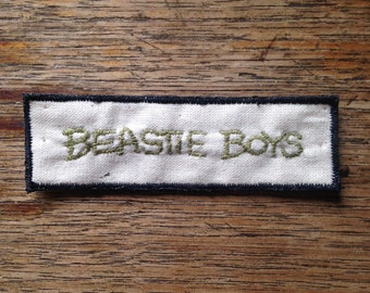 Beastie Boys hand embroidered patch