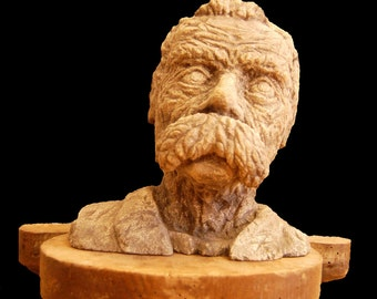 Bust stone Nietzsche
