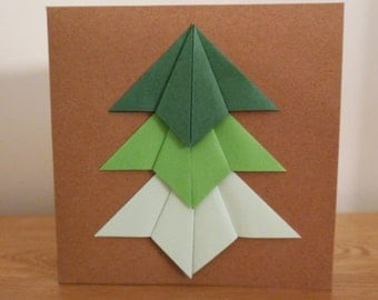 Christmas tree origami card