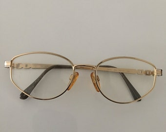 Vintage Valentino Gold Glasses