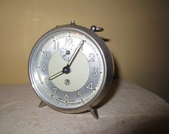 Vintage french mechanical alarm clock