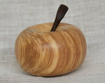 Olive wood apple