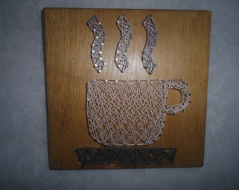String Art Coffee Cup