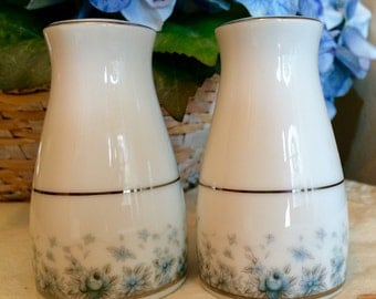 "Vintage Noritake ""Kathleen"" porcelain salt and pepper shaker set"