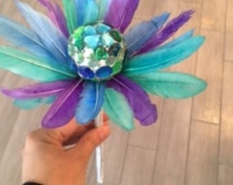 Feather & Crystal Wand
