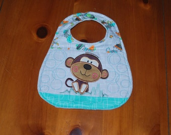 Applique Monkey Bib