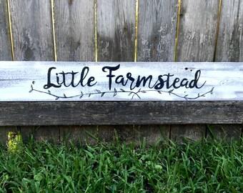 Little Farmstead sign