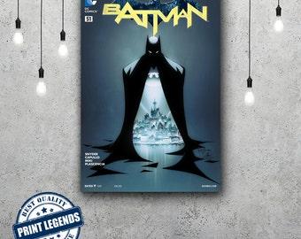 Batman Comic Book Cover Canvas Print - Canvas Art - Wall art