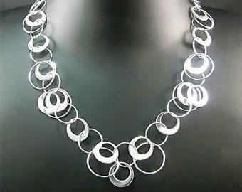 Silver Sarina Circles Necklace