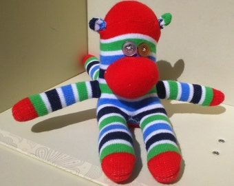 Sock Monkey Toy Stripes | Quirky Box of Critters