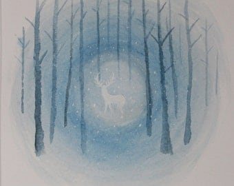 Expecto Patronum watercolor painting