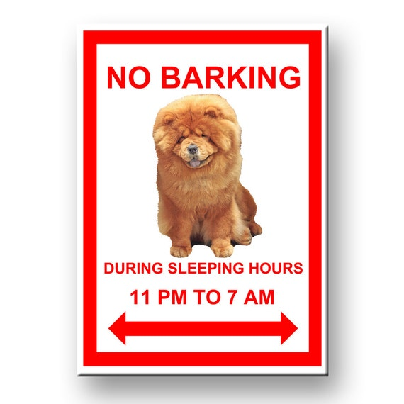 Chow Chow No Barking Funny Fridge Magnet