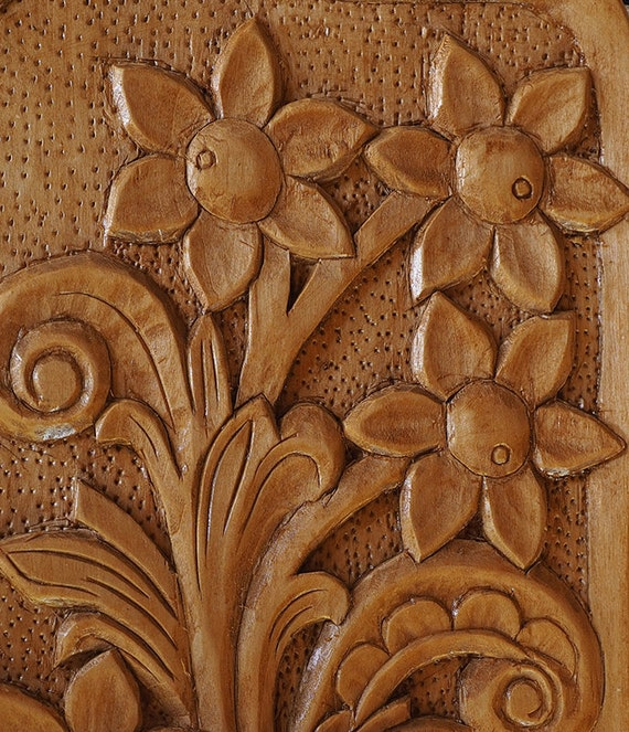 Carved Wood Wall Art Part - 48: Farmhouse Decor Carved Wooden Flowers | Wood Wall Art | Bouquet Of Wooden  Flowers