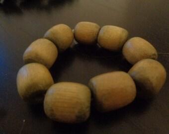 Brown Wooden Braclet