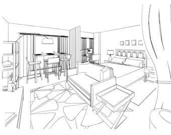Home Staging Service Interior Designer E-Design Floor Plan 3D Render Real Estate Home Decor Mood Board Design Service Interior Decorating