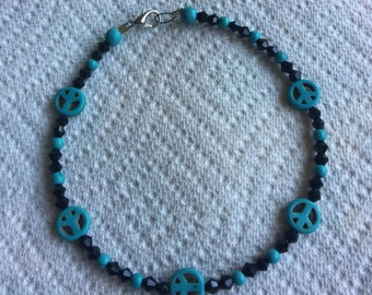 Beaded Turqouise Anklet