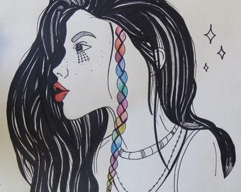 Beautiful Girl Print