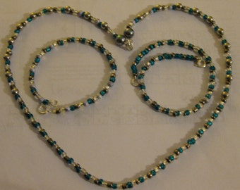 Beaded bracelet, necklace and anklet #2