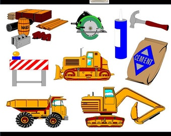 Construction Clipart - Truck Clipart, Construction Clip Art, Construction Equipment, PNG Images