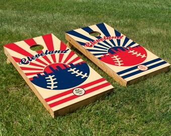Cleveland Indians Cornhole Board Set