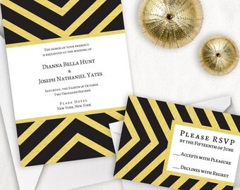 Bold Glamor Wedding Invitation