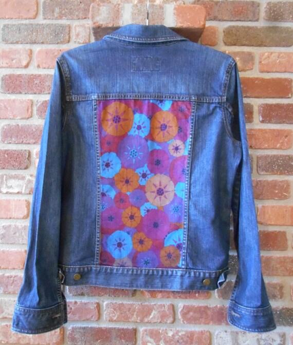 Upcycled Hand Painted Denim Jacket By Denimanddyeworks On Etsy