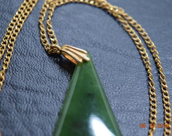 Jade Pendant with 12K Gold Filled Chain