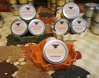 Homemade Beeswax Candles- 4oz