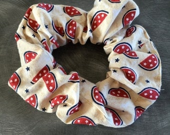 Patriotic hair scrunchie watermelons