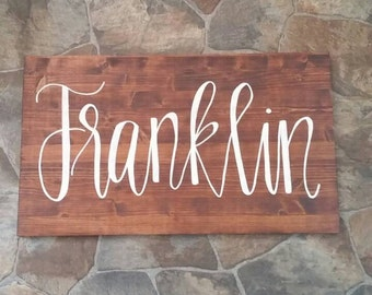 Custom Last Name Wooden Sign, Wooden Sign, Personalized Wood Sign, Personalized Name Sign