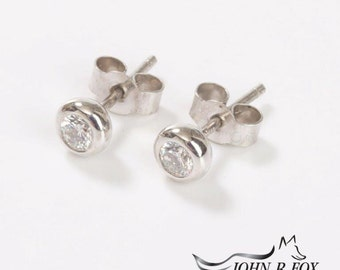 Chubbie 18ct Gold & Diamond Earrings