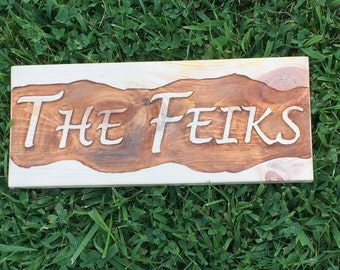 Customized Hand-Routed Wood Signs - FREE Shipping