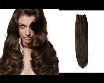 Shade 4 clip in human hair extensions
