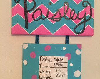 Baby name and weight picture