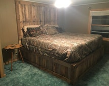 Pallet wood bed frames & headboards