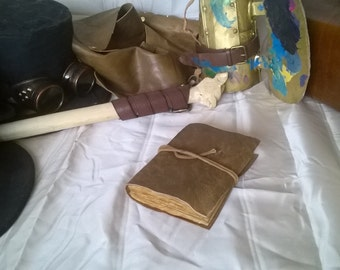 My little notebook leather - My Little Leather Book - old book - travel journal - writing - drawing - gift - 96 pages