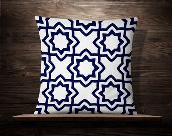 White and Blue Throw Pillow | Blue White Pillow | Blue and White Pillow | Blue and White Pillow Cover | Blue and White Decor | Blue Pattern