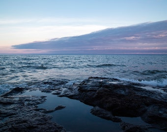 Lake Superior Photography, Summer Evening, Nautical Wall Art, Blue Clouds, Fine Art Photography, Nature Photography