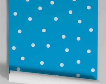 Wallpaper electric blue Polka