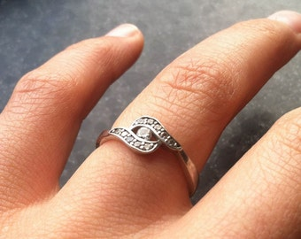 """Sterling Silver """"Tiger's Eye"""" Ring"""