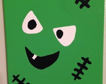 Silly Monster Face Frankenstein painting