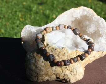 Crazy Horse and Wood Bracelet