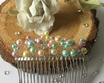 Bridesmaid hair comb