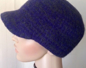 Cloche hat with visor