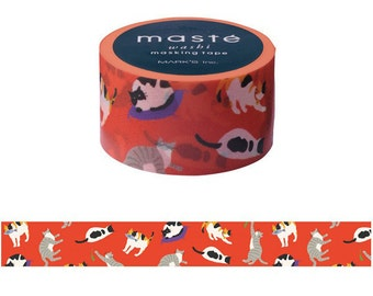 Cats Washi tape, Japanese washi tape, Washi tape rolls, Gift Wrapping, Masking tapes, Scrapbook tape, Paper tape, washi cats