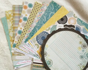 SCRAPBOOK PAPER LOT My Minds Eye 'The Sweetest Thing' including 6inX6in pad
