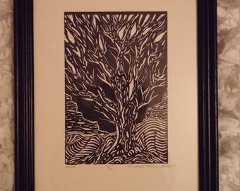 Black Tree Print